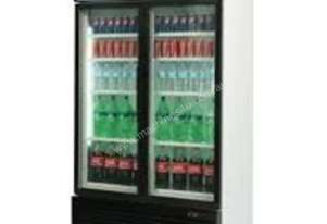 Bromic GM1000L Upright Fridge 2 Glass door (Black)