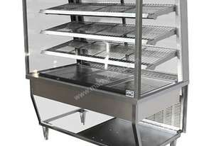 FPG 5H15-SQ-FF 5000 Series Square Heated Fixed Front Food Cabinet - 1500mm