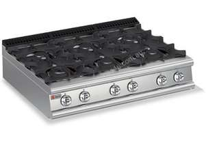 Baron 7PC/G1205 Six Burner Bench Model Gas Cook Top