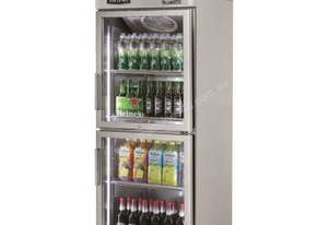 Skipio SRT25-2G Reach In Refrigerator Single Half Glass Door
