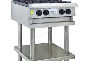 Luus CS-2B3P 600mm Cooktop with 2 Burners, 300mm Grill & Shelf Professional Series