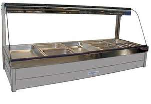 Roband C25RD Curved Glass Hot Food Bar