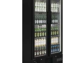 Polar GJ449-A - Double Door Bar Display Cooler 490Ltr Black Double Hinged Doors - picture1' - Click to enlarge