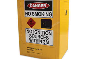 30 Litre Indoor Flammable Liquids Cabinet. Australian made to meet Australian Standards