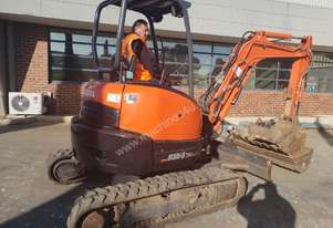 USED 2013 KUBOTA U35-3 EXCAVATOR WITH QUICK HITCH AND 4 BUCKETS