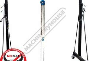 MGT-1TGC Mobile Girder Rail  Gantry Package Deal 1 Tonne Capacity Includes 1T x 3M Chain Block & 1T