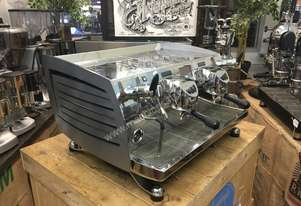 VICTORIA ARDUINO BLACK EAGLE VOLUMETRIC 2 GROUP SILVER ESPRESSO COFFEE MACHINE