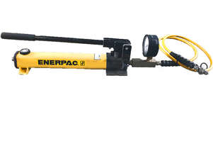 Enerpac Hydraulic Hand Pump with GP-10B Gauge & Hose P392