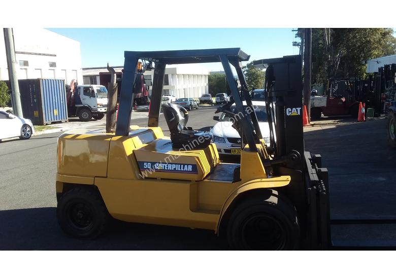 EOFY SALE Caterpillar Forklift 5 Ton Diesel Dual Wheel Container Entry Mast