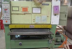 Barker wide belt sander/cutter with thicknessing head