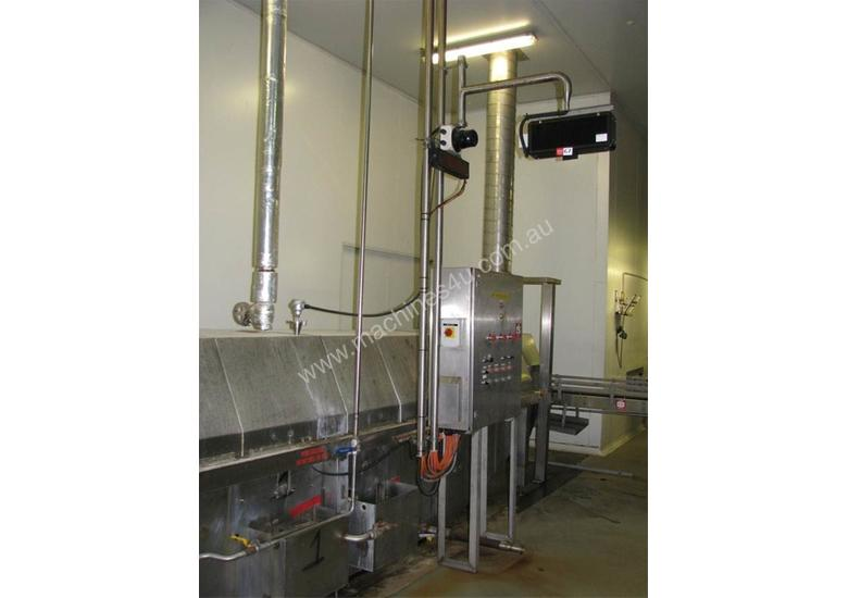 Tunnel Pasteuriser/cooler Stainless steel 7.3m long