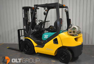 Komatsu Forklift 2.5 Tonne LPG 4th Spare Function 4500mm Lift Height 3098 Low Hours