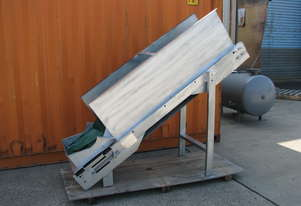 Incline Motorised Belt Conveyor - 1.7m long