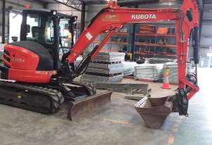 Used 2016 Kubota u55 5 Tonne Mini Excavator for sale, 1670.00hrs, Melbourne VIC