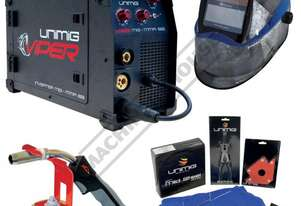 VIPER 182 Multi-Function Inverter Welder-MIG-MMA Package Deal 30-180 Amps, #KUMJRVW182 Includes Auto
