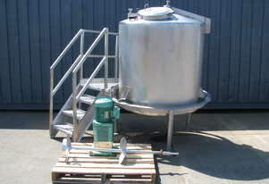 Large Stainless Steel Tank with Mixer - 1400L