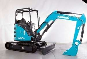 2020 NEW AIRMAN AX33U-6 EXCAVATOR : 3.1 ton canopy model