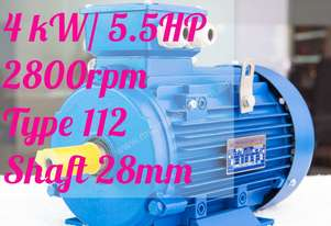 4 kw / 5.5HP 2800rpm 28mm shaft motor Three-phase