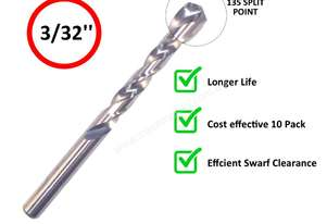INSIZE IN0113 DRILL BIT PACK OF 10 - 3/32''