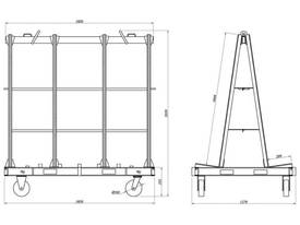A Frame Trolley 1.85m Stationary 4000kg Eye 3000kg  - picture3' - Click to enlarge