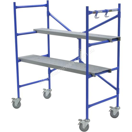 Types Of Portable Scaffolding : New werner portable scaffold kit mm wide kg mobile