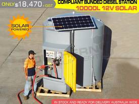 10,000litre 12v Bunded diesel station solar power