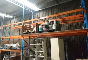 Dexion double deep, 3 pallet wide racking