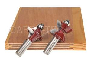 Carbatec Solid Edge Router Bit Set - 2 pce