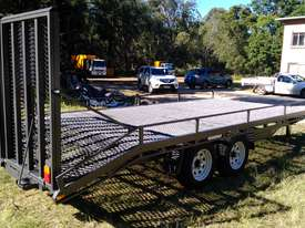NEAR  NEW 4.5 TON 5.5M PLANT TRAILER W/ RAMPS  - picture2' - Click to enlarge