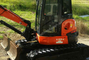 2012 Kubota U55-4, tilt hitch, grab & attachments, Call EMUS