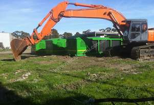Excavator with Penetration Bucket , 2m tyne ripper , 3m3 shaker , new bissalloy multi tyne grab