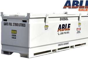 Able Fuel Cube Bunded 3000 Litre (Safe Fill 2700 Litre)