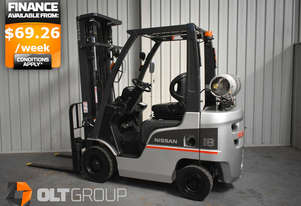 Nissan 1.8 Tonne Forklift 5500mm Lift Height LPG Sideshift REDUCED from $15,900