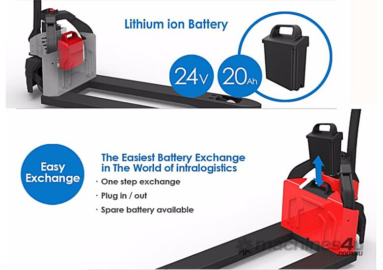 Brand New EP EPT12-EZ Lithium Battery Electric Pallet Truck/Jack