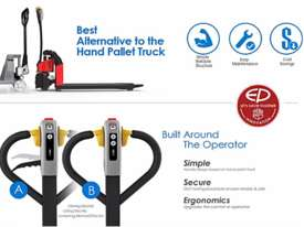 Brand New EP EPT12-EZ Lithium Battery Electric Pallet Truck/Jack - picture2' - Click to enlarge