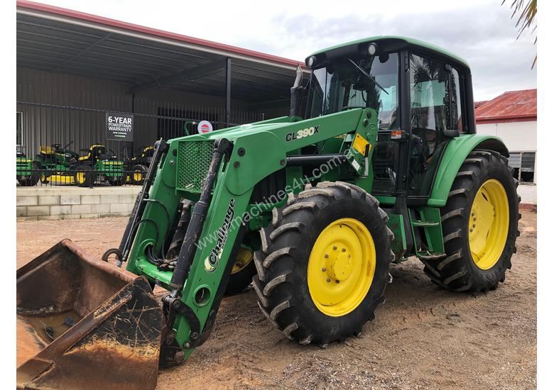 John Deere 6130 CAB TRACTOR WITH CHALLENGE LOADER