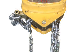 Tuffy Lift Block and Tackle Chain Hoist 1.5 Tonne x 3mtr chain