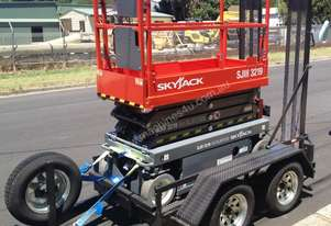 Skyjack 19ft Scissor Lift and Trailer Package