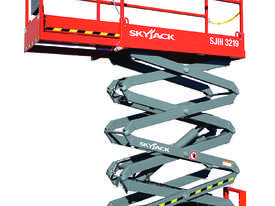 Skyjack 19ft Scissor Lift  with Galvanised Trailer - picture0' - Click to enlarge
