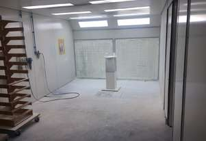 Semi Down-draft Spray Booth with attached drying booth