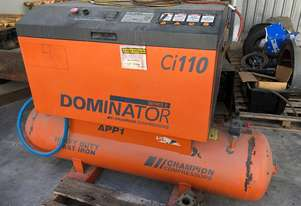 60 cfm Champion Compressor on tank Dominator