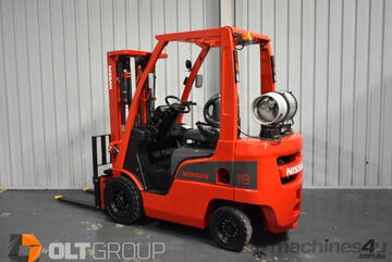 Nissan 1.8 Tonne Forklift Container Mast LPG with EFI Engine Sideshift Sydney Orange Melbourne
