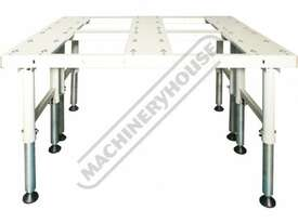 BTT-150 Ball Transfer Table - Sheet Metal & Plate 600 x 1500mm Steel Ball Rollers & Adjustable Stand - picture7' - Click to enlarge