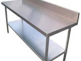 Brayco S/Steel Bench with SplashBack - picture0' - Click to enlarge