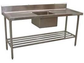 NEW COMMERCIAL 900X600 STAINLESS STEEL FLAT BENCH - picture1' - Click to enlarge