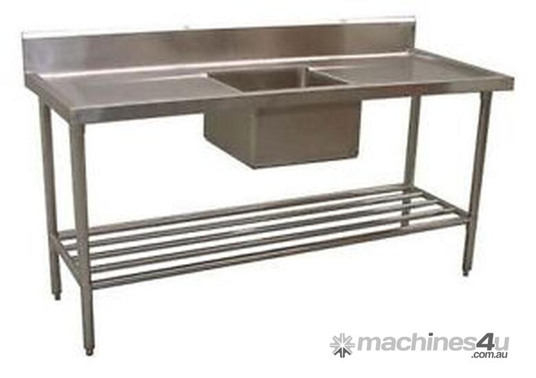 NEW COMMERCIAL 900X600 STAINLESS STEEL FLAT BENCH