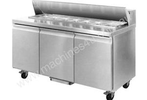 F.E.D. SLR150 Three Door 7 x 1/3 Pans Sandwich Bar Fridge