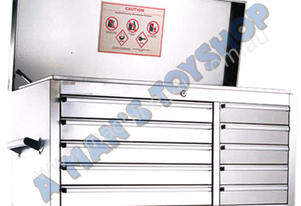 TOOLBOX 10 DRAWER 1065MM STAINLESS STEEL