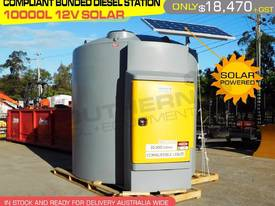 Bunded 10,000 litre 12v diesel station solar power
