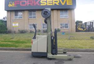 Crown Walk Behind Reach Truck with brand NEW BATTERY - 5 Year Warranty